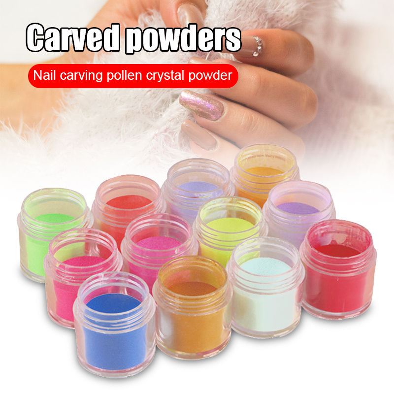 neon pigmento de cristal pos para unha polones decoracao da arte do prego profissional acessorio do