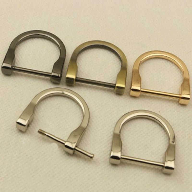 2019 New Metal Removable Handbag Shoulder Hand Bag Purse Strap Belt Screw D Ring Buckle Clasp DIY Open Screw Bag Accessories