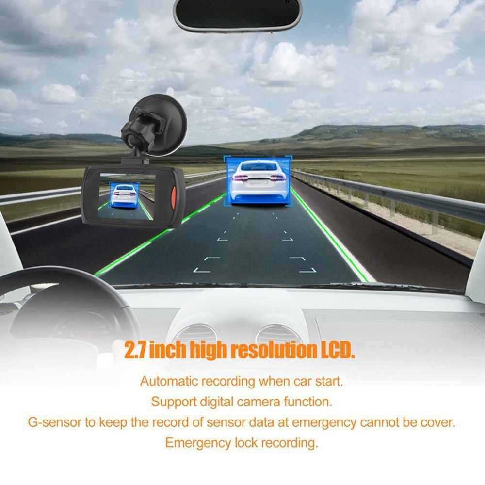 Dash Cam 1080P DVR Xe Ô Tô Lái Xe Đầu Ghi Màn Hình LCD 170 Góc Rộng Cảm Biến Nhìn Ban Đêm phát Hiện Chuyển Động