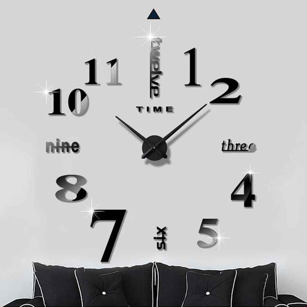 Acrylic Wall Sticker Numbers/Letters 3D Wall Clock Stickers Wall Stickers for Kids Rooms DIY Hanging Wall Decor Room Decoration