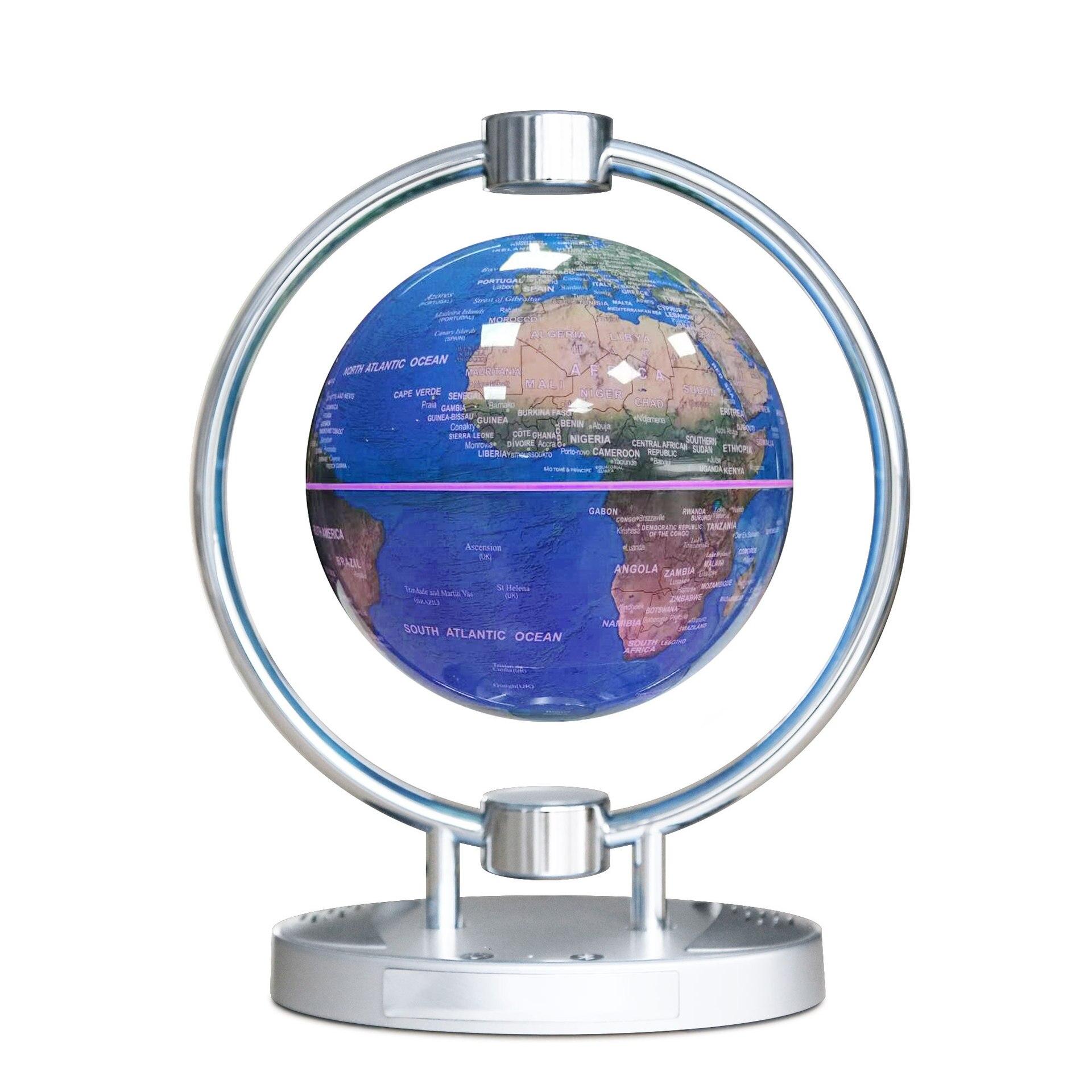 Магнитный левитационный Плавающий глобус, 6 антигравитационная карта мира Созвездие спиннинг шар с сенсорным управлением светодиодный светильник, креативный - 4