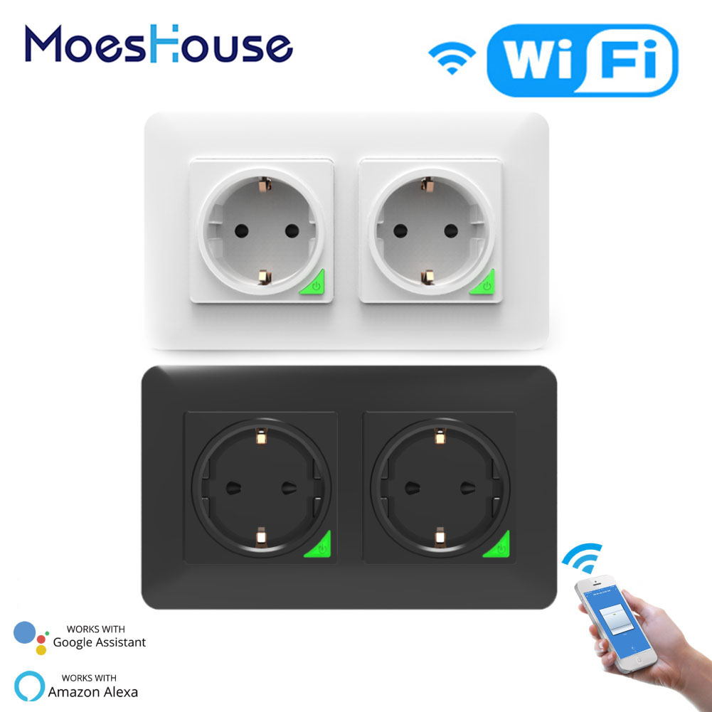 WiFi Smart Socket EU DE Removable Detachable From Wall Plate Smart Life Tuya App Control Works With Alexa Echo Google Home