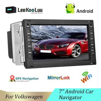 Автомагнитола LeeKooLuu 2 Din, мультимедийный проигрыватель с GPS-навигацией для VW BORA POLO MK3 4 PASSAT B5 Jetta Golf 4 T4 T5, автомагнитола на Android