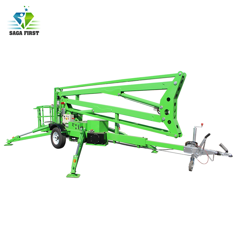 2017 New Designed Towable Trailed Knuckle Boom Lift
