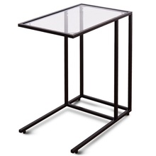 End-Table Coffee Sofa Frame Top-Hw54104 Square Simply-Lamp Tempered-Glass Smooth Steel