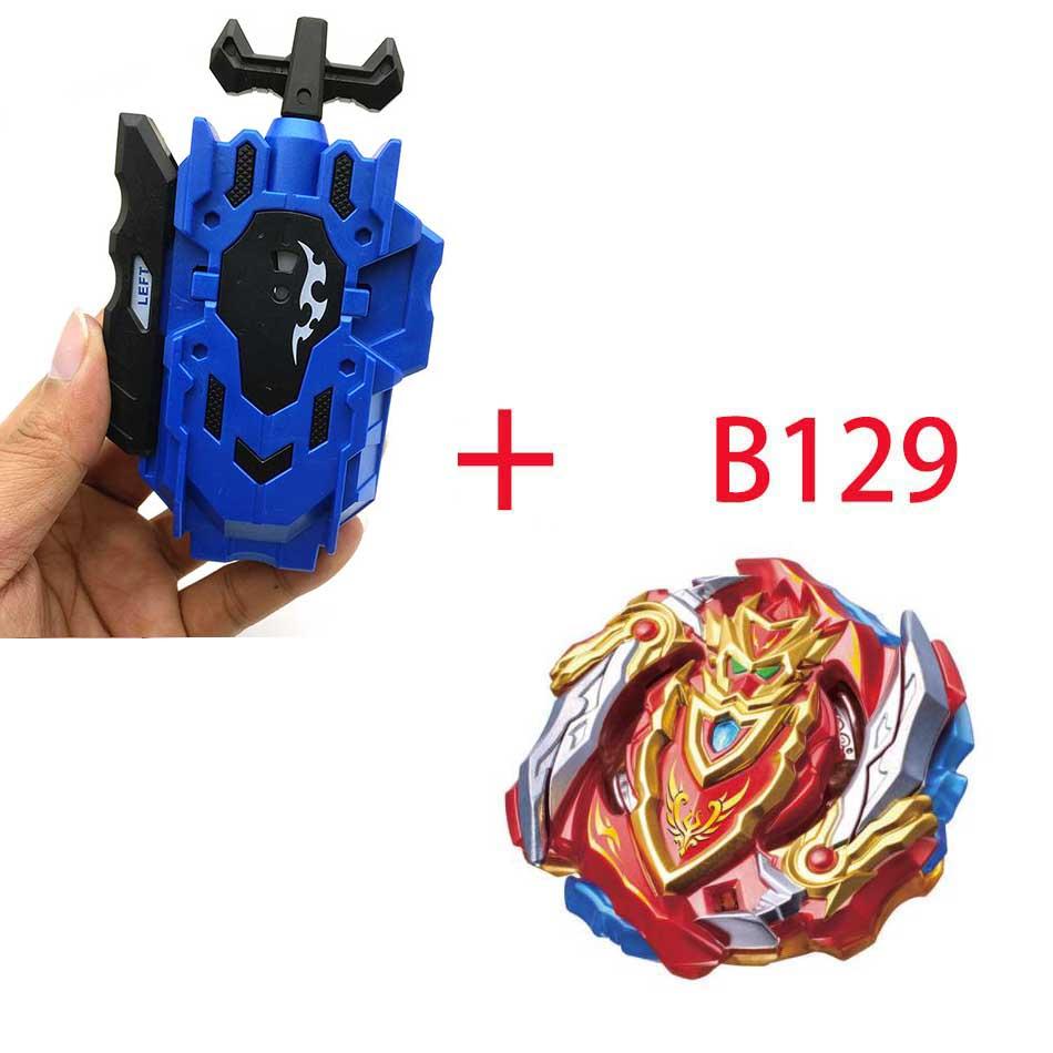 Волчок Beyblade BURST B-130 B-117 с пусковым устройством Bayblade Bay blade металл пластик Fusion 4D Подарочные игрушки для детей - Цвет: B129