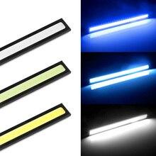 1 шт. 17 см Водонепроницаемый Дневной ходовой светильник COB DRL светодиодный лампы внешнего освещения автомобиля универсальный автомобильный Стайлинг светодиодный DRL лампа