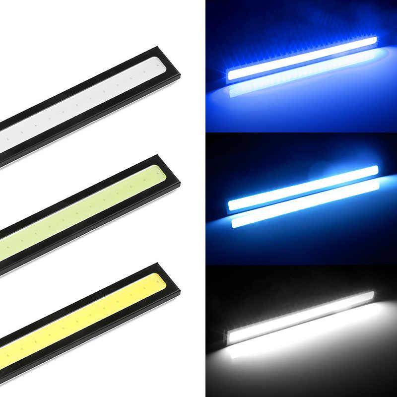 1 sztuk 17cm wodoodporna światła do jazdy dziennej COB DRL LED lampa samochodowa lampy zewnętrzne Auto uniwersalne światła LED do stylizacji samochodu lampa DRL
