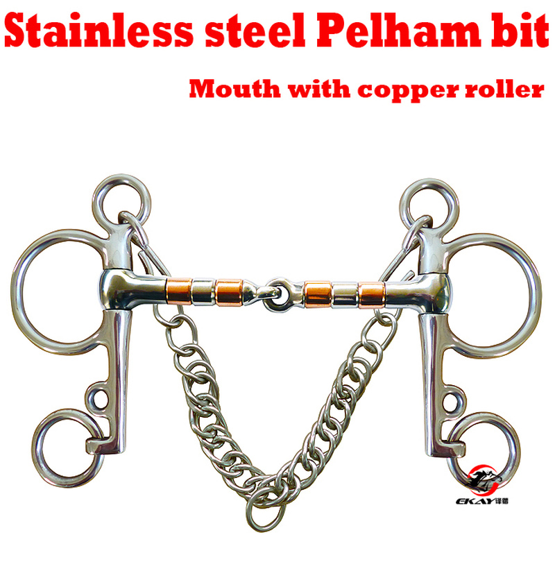 125mm/135mm Horse Bits Western Horse Riding Racing Copper Spiral Jointed Stainless Steel  Bit Equestrian Snaffle Mouthpiece S