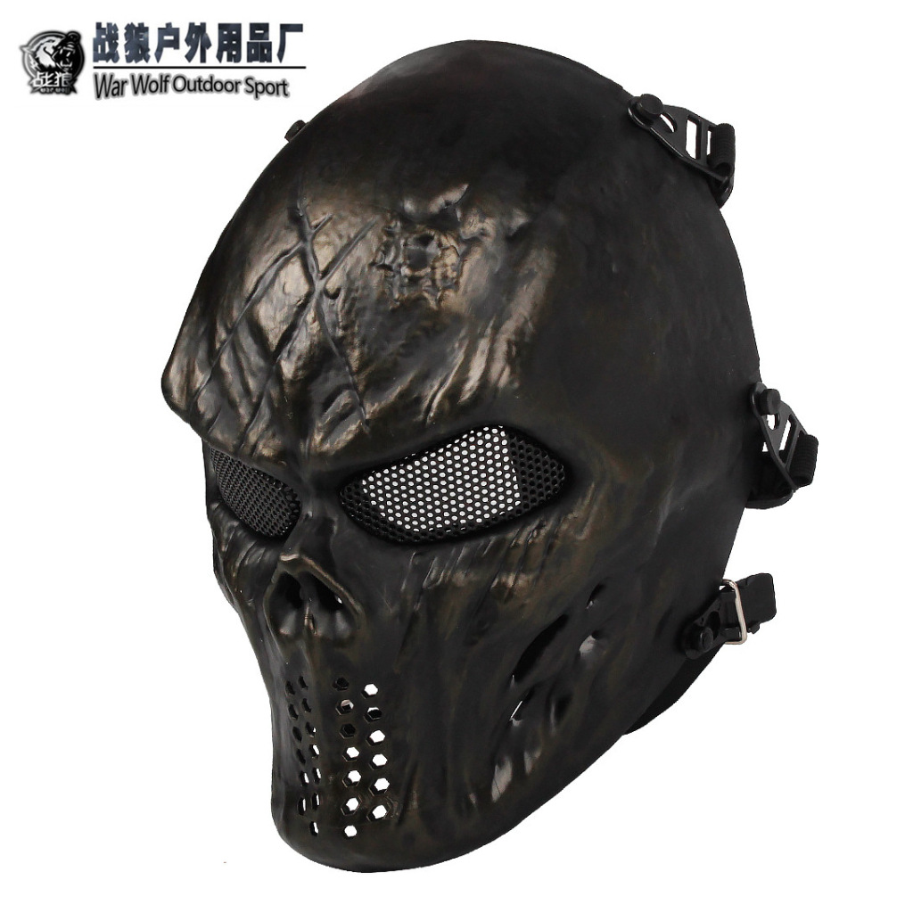 Wolf Warriors New Products M06 Bronze Field Operations Horror Mask CS Bulletproof Protection Face Skeleton Mask Outdoor Cycling