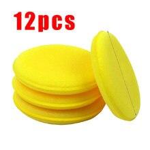 12 шт/компл Авто Воск для полировки губка рук мягкий воск желтая
