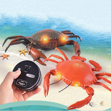 цена на Creative Remote Control Animal Crab Toy Infrared Remote Control Simulation Crab Model Children Tidy Funny Toy Christmas Gift