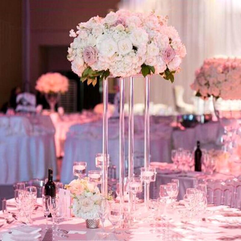 JAROWN New Wedding Desktop Centerpiece Flower Stand Flower Pillar Acrylic Crystal Road Lead Wedding Scene Layout Props (2)