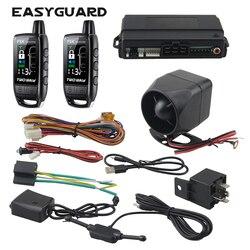 EASYGUARD 2 way alarm samochodowy akumulator zdalnego lcd pager alarm z wyświetlaczem uniwersalny bezkluczykowy dostęp do pojazdu system 868Mhz DC12V