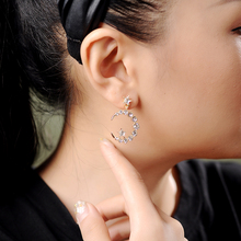 Earrings 2019 New Wave Retro Star Moon Ins Cold Wind Female