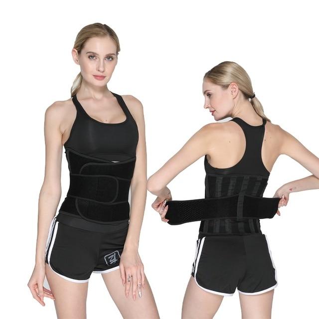 Sports Waist Trimmer Belt Slim Weight Loss Sweat Band Shapewear Adjustable Lumbar Brace Gym Accessories Weightlifting Training F