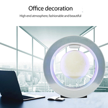 Automatic Rotation Night Light Floating Moon Lamp With Magnetic Support Shelf Discoloration Crafts Home Decoration Ornaments