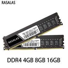 Rasalas Pc Geheugen Ram DDR4 4G 8G 16G 17900 19200 21300Mhz 2133 2400 2666Mhz 1.2V Dimm 288pin Desktop Ram Pc Oперативная Nамять