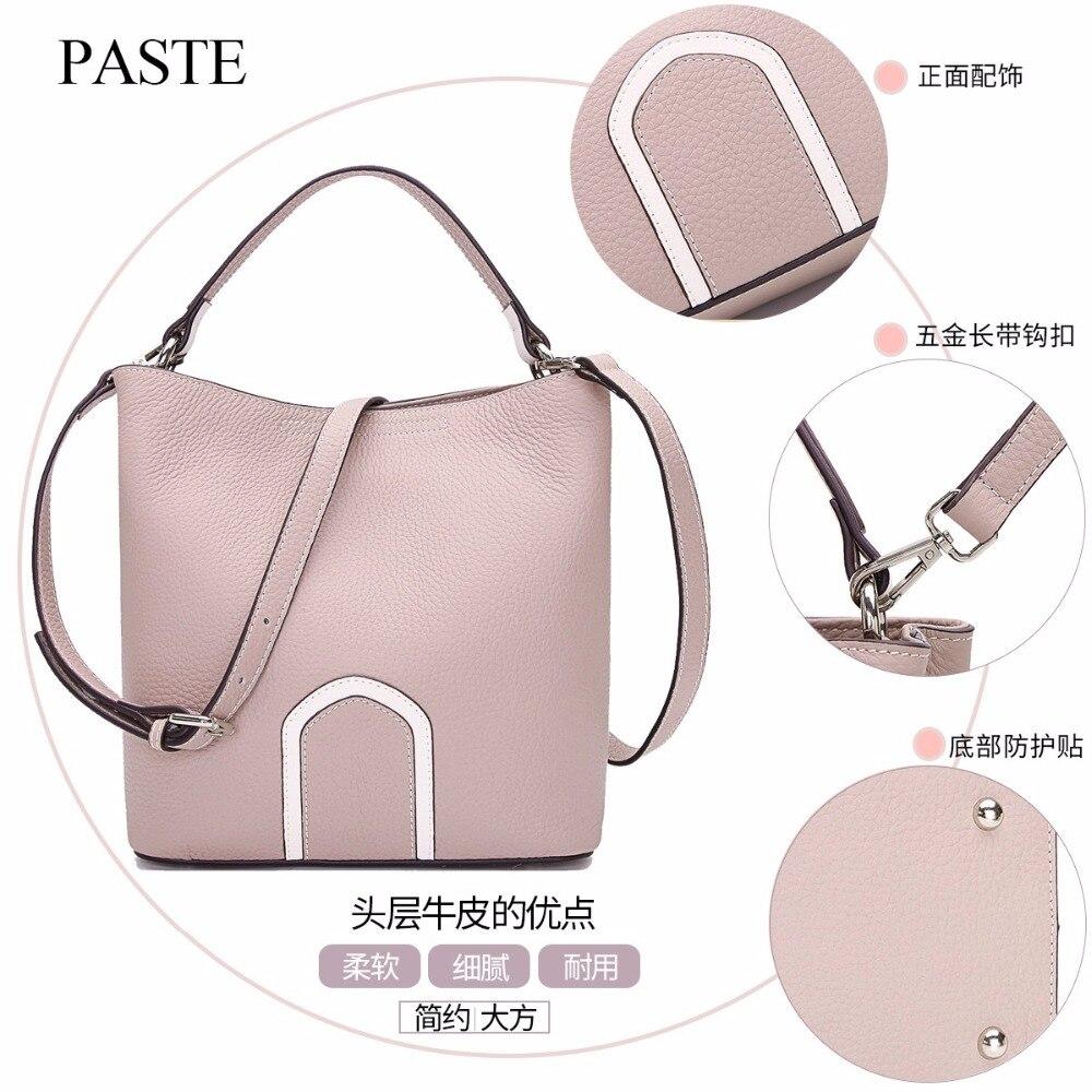 2017 лучшие женские сумки из натуральной кожи, Весенняя женская сумка на плечо, модные женские сумки, большой бренд, ipad, розовая сумка через пл... - 4