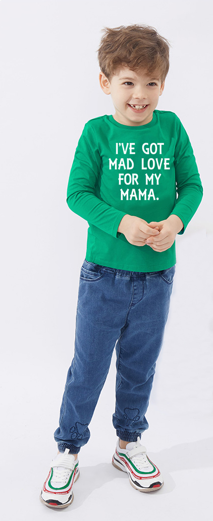 I've Got Mad Love for My Mama Shirt Kids TShirt Boys Girls Funny Quote Tee Baby Toddler Autumn Shirt Mothers Day Gift image