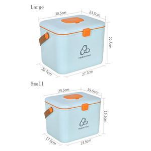 Image 5 - פלסטיק ערכת עזרה הראשונה רפואית תיבת גדול אחסון לרפואה ארגונית רפואת חזה חירום מיכל בית ערכה רפואית