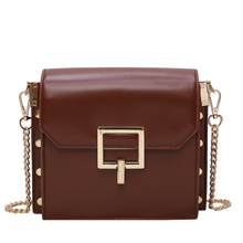 Womens brand bag 2019 casual handbag female small square designer leopard black red PU leather Messenger shoulde