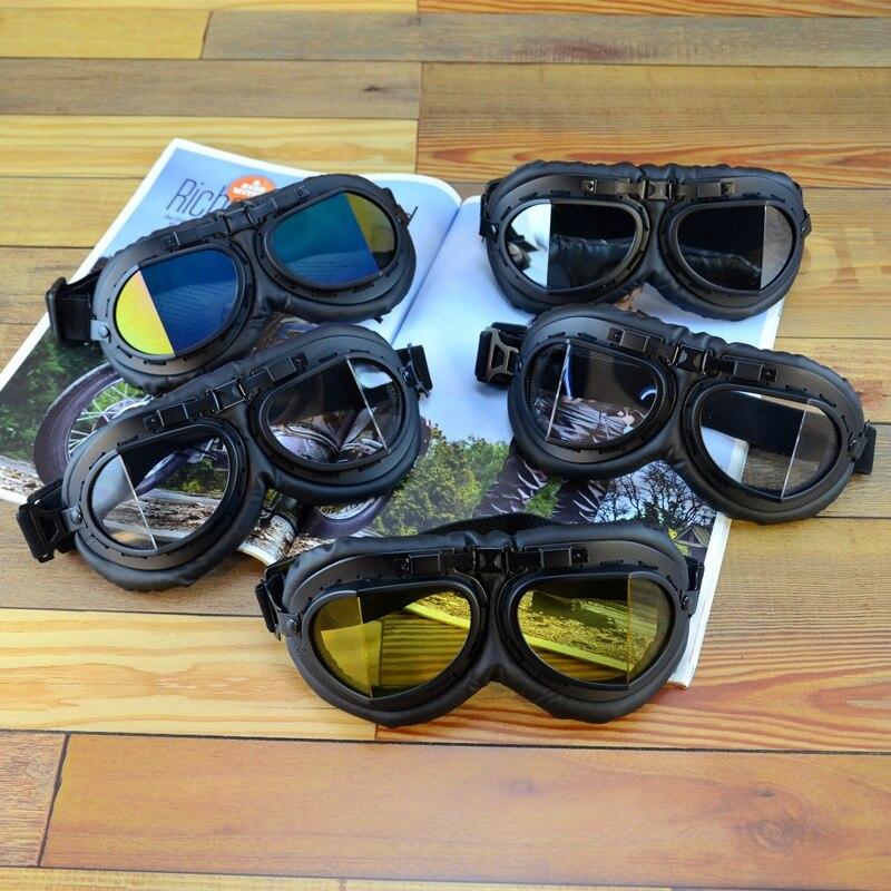 Moto rcycle lunettes vintage moto cross Anti-UV réglable équitation protection Combat tactique militaire lunettes moto lunettes rétro