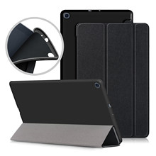 Ultra Slim PU Case For Samsung galaxy Tab A 10.1 SM-T510 T515 Tablet cover for Samsung tab a 10.1 2019 case(China)