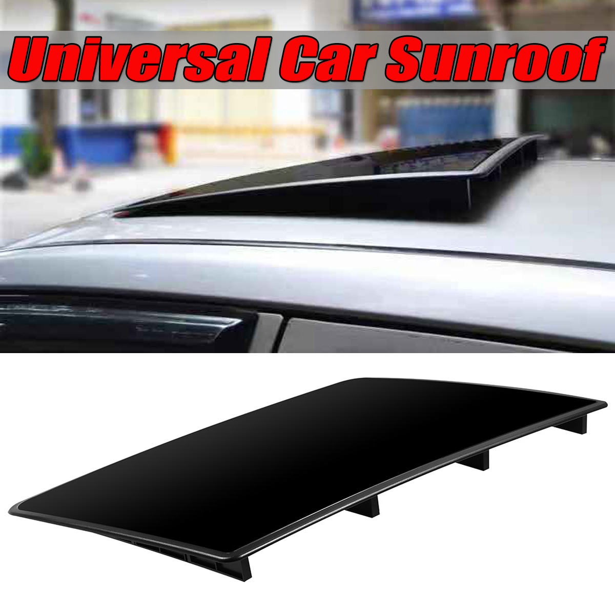 1x Universal Car Sunroof Cover Imitation Sunroof Roof Sunroof DIY Decoration For Benz For BMW For Audi For Honda For Mazad