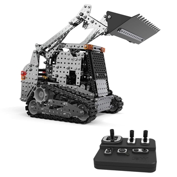 RC Truck Building Kits Remote Control Truck 2.4G 10 Channel Metal RC Bulldozer Construction Vehicle DIY Assembly DIY RC Forklift