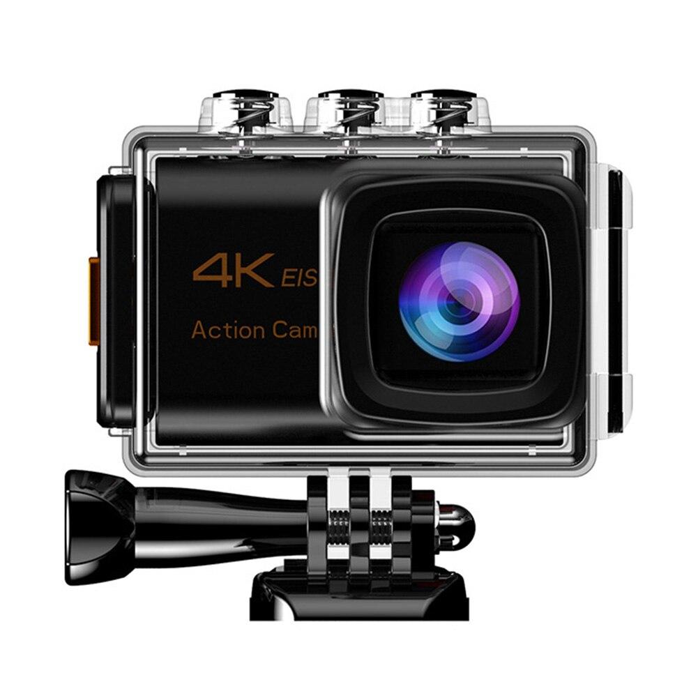 Photographie aérienne Portable grand Angle sport caméra EIS trois axes télécommande Anti-secousse ABS voyage APP soutien 4K Wifi