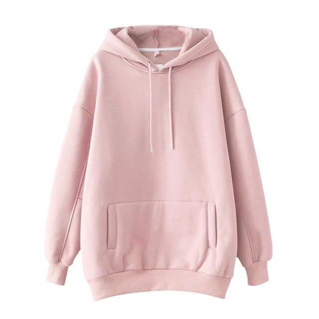 повседневные однотонные теплые пуловеры толстовки свитшоты женская фотография
