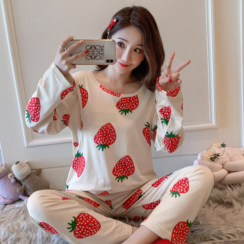 Confinement Clothing Summer Thin Section Pregnant Women Pajamas Spring And Autumn Postpartum Nurse Nursing Korean-style-Style Tw