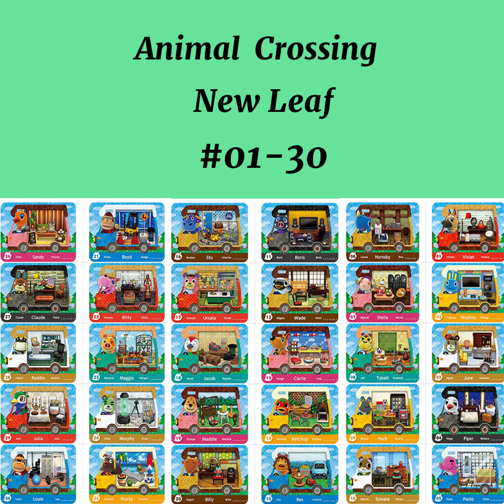 Animal Crossing New Leaf Welcom Amiibo Card (01-30) NFC Card Work For NS Games