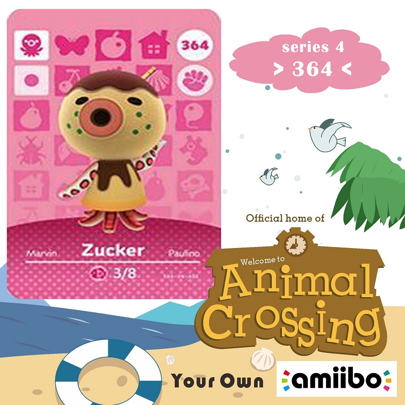 364 Animal Crossing Amiibo Card Zucker Amiibo Card Animal Crossing Series 4 Zucker Nfc Card Work For Ns Games Dropshipping