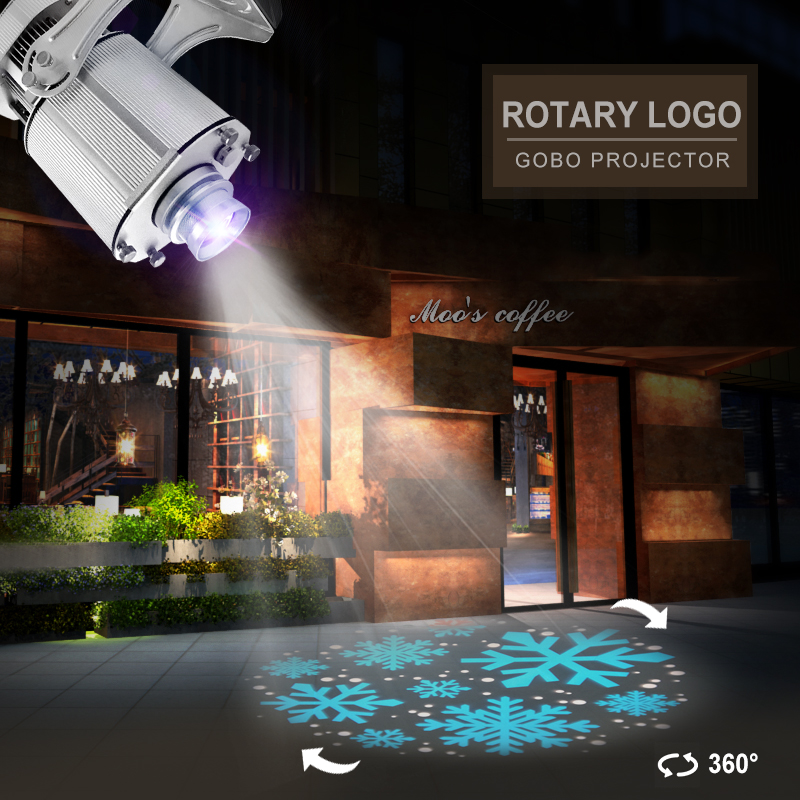 LDLG 80W Advertising Projector Outdoor Static Rotary Gobo Light for Store Advertisement Led Logo Projector Waterproof On Sale
