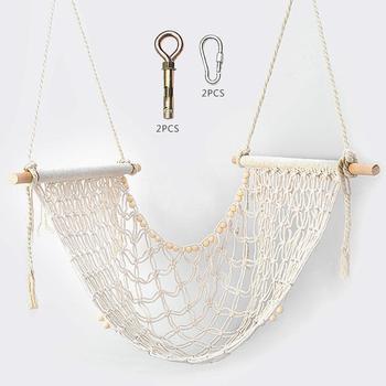 Tassel Handmade Weaving Swing Children's Room Decoration Shooting Props Cotton Rope Swings Set Lazy Net Red Swing Outdoor Toys