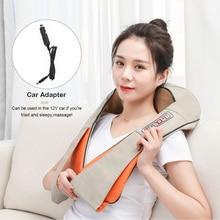 цена на Electrical Massage Shiatsu Back Shoulder Body Neck Massager Multifunctional Shawl Infrared Heated Kneading Car/Home Massager