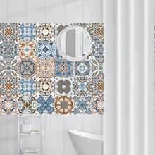 Retro Vintage azulejos pegatinas de baño de cocina lavable impermeable PVC pegatinas de pared decoración del hogar calcomanías artísticas de pared 20x100cm