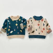 Clothing Knitwear Sweater Girls Cute Autumn Print Pullover Boys Kids Children's