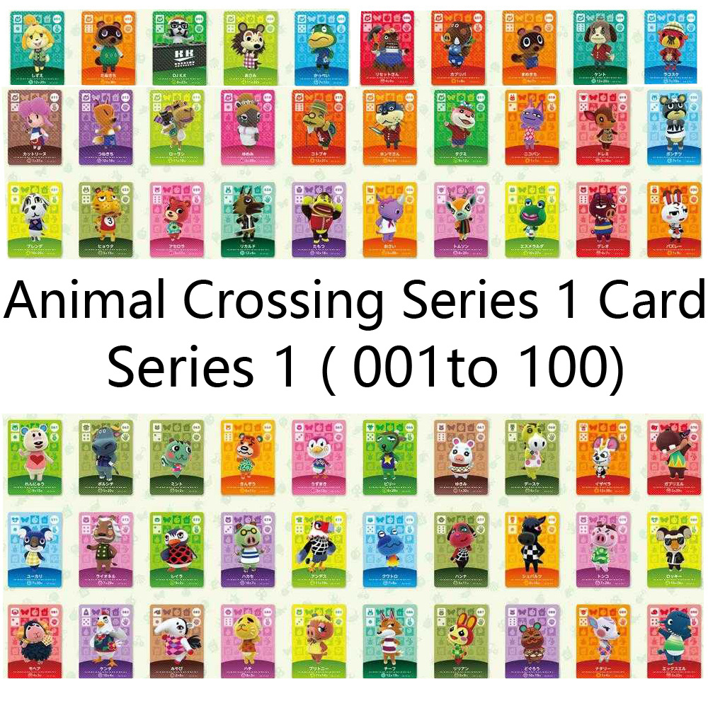 English version (001 to 100) Animal Crossing Card Amiibo locks nfc Card Work for NS Games Series 1 image