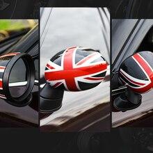 2 pçs porta espelho retrovisor cobre adesivos de carro-estilo para bmw mini cooper um s jcw f série f54 f55 f56 f57 f60