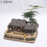 Ceramics Flower Garden Small Succulent Plant Pot With Light Fleshy Bonsai Decor Vintage Chinese Retro Country Table Decoration