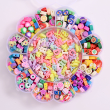 Mixed Heart/Letter Shape Polymer Clay Beads 520Pcs Loose Spacer Beads DIY Necklace Bracelet Earring Jewelry Findings Making