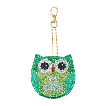 5pcs DIY Full Drill Special Diamond Painting Keychain Cartoon Owl Women Bag Pendant Keychains Jewelry Key Ring Gifts @25(China)