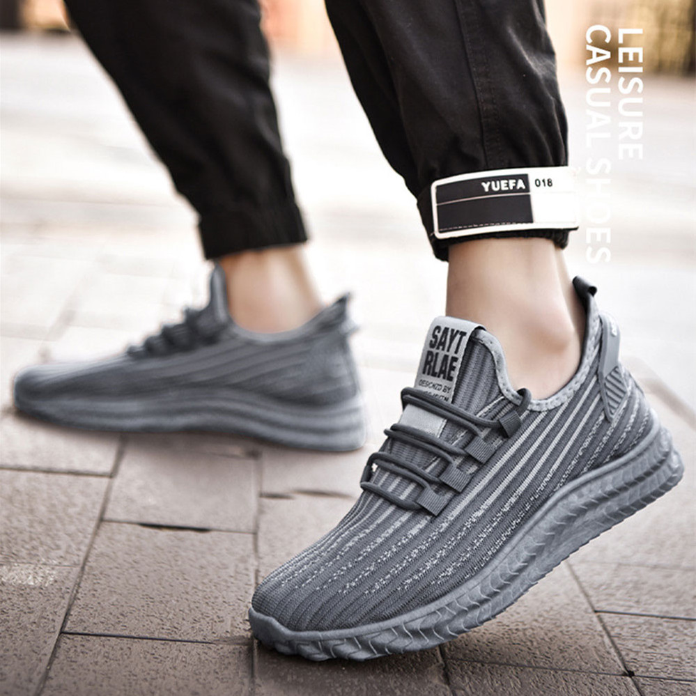 Men Running Shoes Casual Sneakers Outdoor Sport Shoes Breathable Flats Jogging Shoes Comfortable Running Shoes For Men