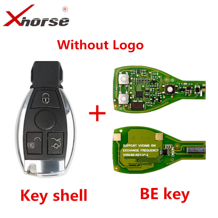 XHORSE VVDI BE Key Pro For Benz V1.5 PCB Remote Key Chip Improved Version Smart Key Shell Without Logo Can Exchange MB BGA Token