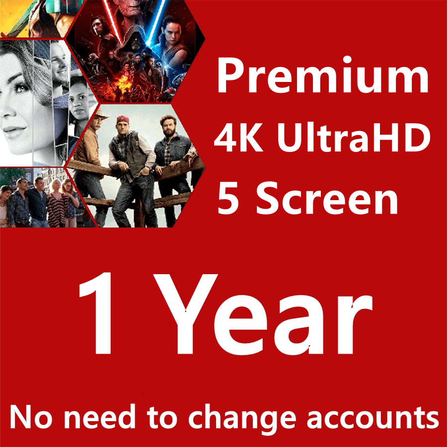 Warranty 1 Year Subscription Netflix Account Premium Ultra HD Support 5 Screens Android Set Top Box Tv Stick Laptop IOS|TV Stick| - AliExpress