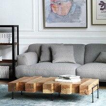 Mesa de salón de café de madera maciza de diseño creativo, pequeña mesa de té, muebles de identidad Vintage de madera para interiores, Retro personalizado
