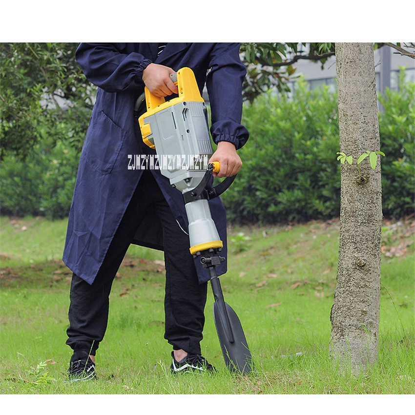 Portable Electric Tree Digging Machine Tree Digging Planting Machine Garden Tools Digging Tree Transplanting Machine 220V 1700W